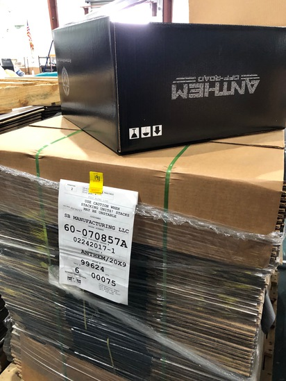 """PALLET OF 75 NEW CARDBOARD BOXES 20"""" X 20"""" X 9"""""""