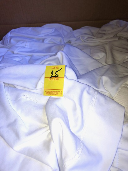 BOX OF 50 WHITE SPANDEX CHAIR COVERS