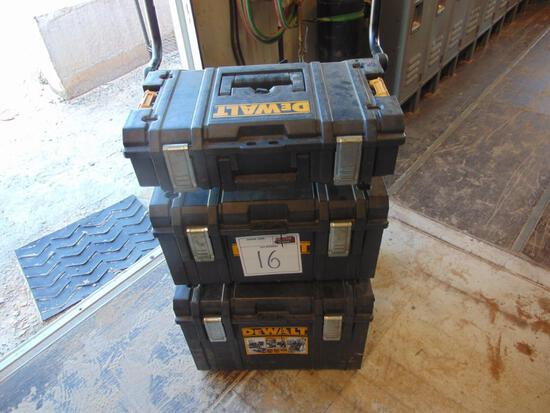 Dewalt Toolboxes w/assorted tools , Located in Thomas Ok