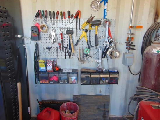 Assorted Tools on Wall , Located in Thomas Ok