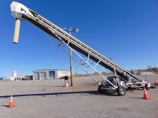 S&A MFG BC820 Trans Loader. s/n 001 deutz diesel eng, beltway scales, hour meter reads 4893 hrs