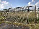 SET OF METAL ENTRY GATES