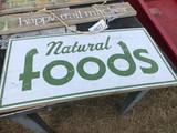 NATURAL FOODS SIGN