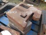 KUBOTA FRONT TRACTOR WEIGHTS