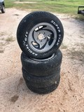 (4) 235-60-14R HURRICANE RIMS AND TIRES