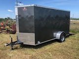 *NEW* 2019 ANVIL 14FT GRAY BOX TRAILER W/SIDE AND