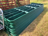 NEW 16FT GREEN METAL CORRAL PANELS