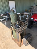 METAL CART W/ACETYLENE & OXYGENT TANKS, HOSES AND