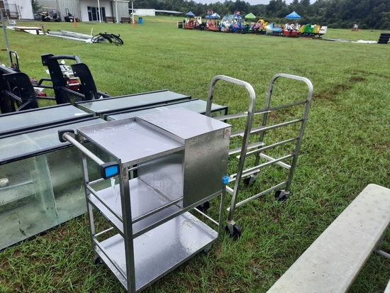 (2) Stainless Steel Push Carts