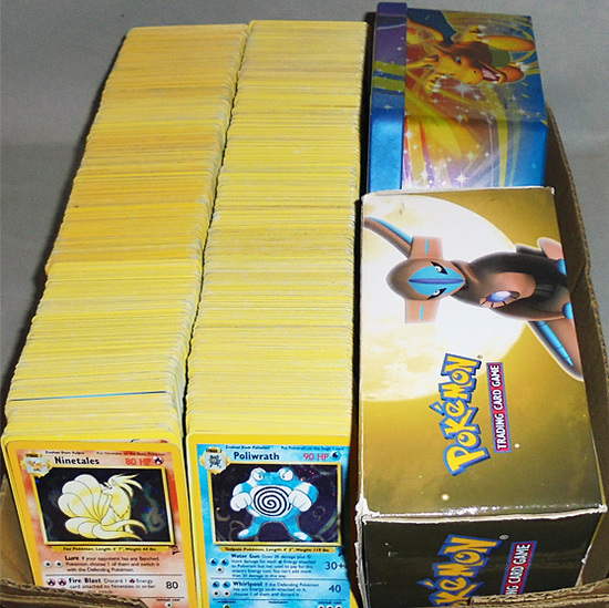 Huge -Pokemon- Trading Cards Collection w/Foil