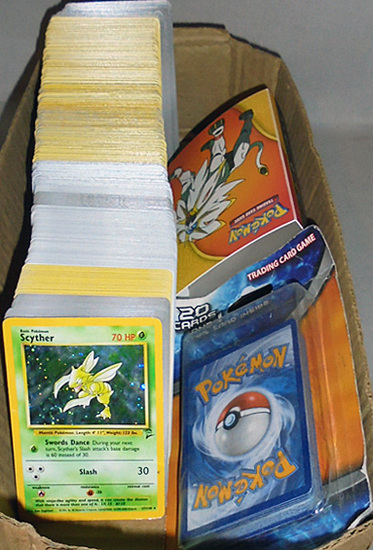 Huge -Pokemon- Trading Cards Box Lot w/Sealed/Foil - 100's