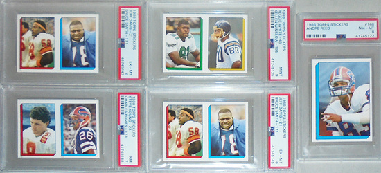 1986 Topps -PSA- Graded Football Rookie Cards Lot