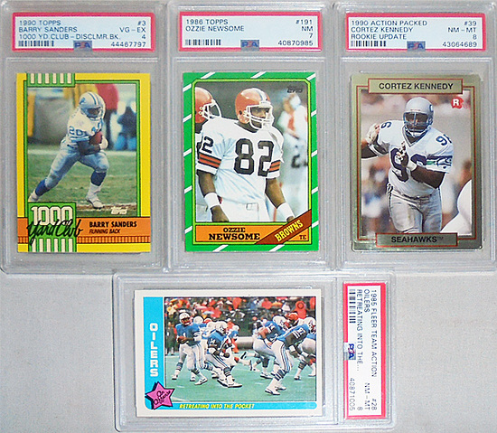 -PSA- Graded Football Cards Lot w/Warren Moon Rookie!