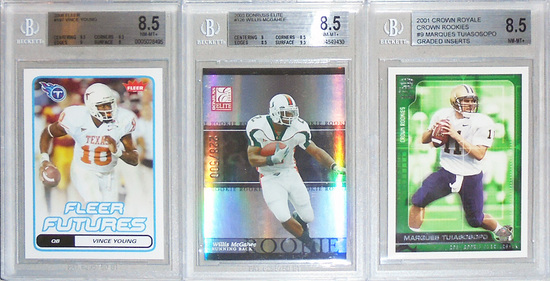 -Beckett- Graded Football Rookie Cards Lot - BGS