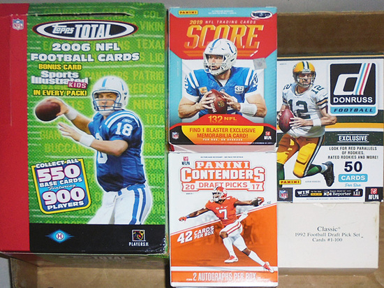 Huge -Football Cards- Sports Memorabilia Box Lot