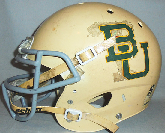 -Baylor University Bears- College Football Game Used Helmet