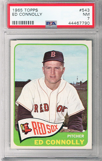 1965 Topps -Ed Connolly- Boston Red Sox PSA 7 Graded Baseball Card