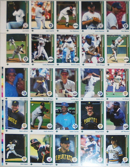 -Rare- 1989 -Upper Deck- Baseball Cards Uncut Sample/Test Strip Sheet Lot