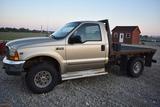 2002 FORD F250 C116 Ford F250 flatbed, gas,