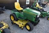 JOHN DEERE 445 C169 John Deere 445 Garden Tractor, 22 HP liquid cooled engine, hydrostatic foot cont
