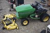 JOHN DEERE 345 C87 JD 345 garden tractor 48in deck (parts machine)