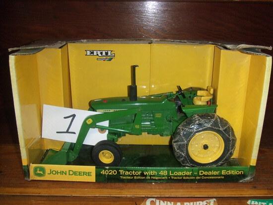 JOHN DEERE 4020 TRACTOR WITH 48 LOADER