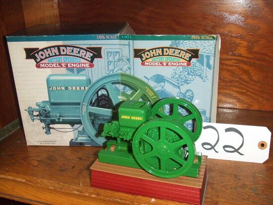 "JOHN DEERE BATTERY OPERATED MODEL ""E"" ENGINE"