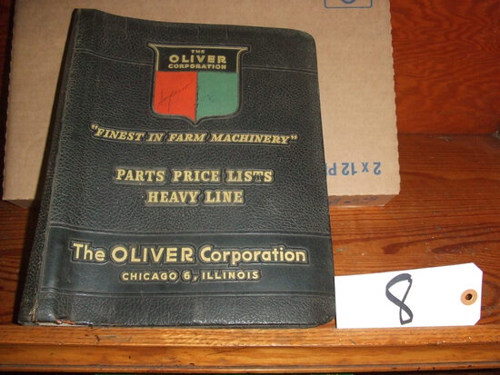 OLIVER CORPORATION PARTS PRICE LISTS