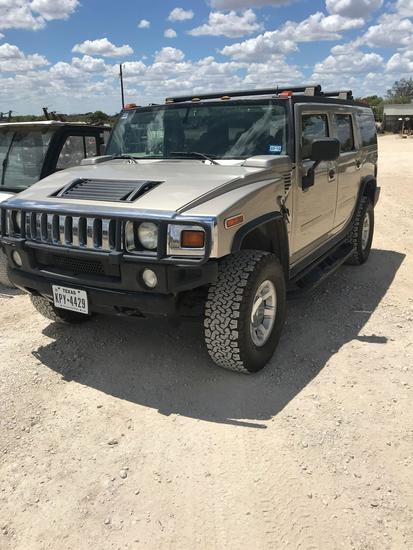 2003 Hummer H2 - 4 door hard loaded only 84000 miles -- ac is not cold nice inside & out - vin 49277