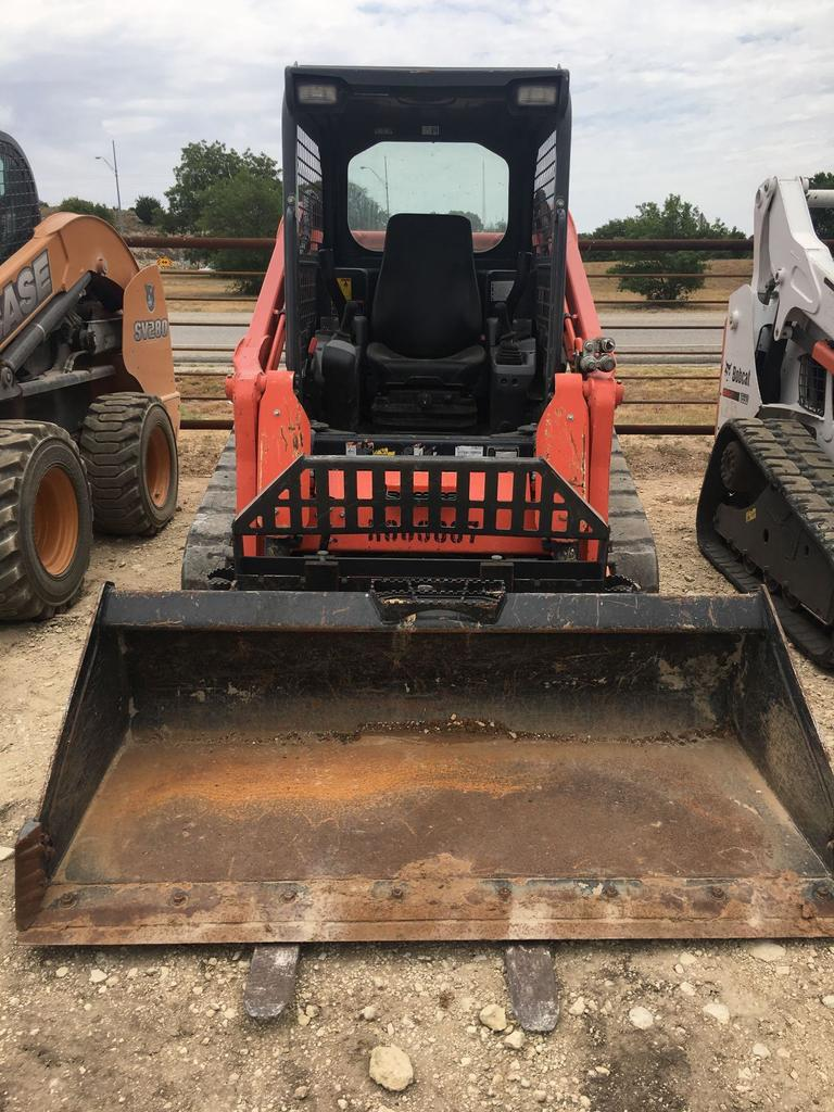 Kubota SVL 75-2 TRACKED SKID STEER with bucket and forks 800 hours --- 2016 year --- good machine