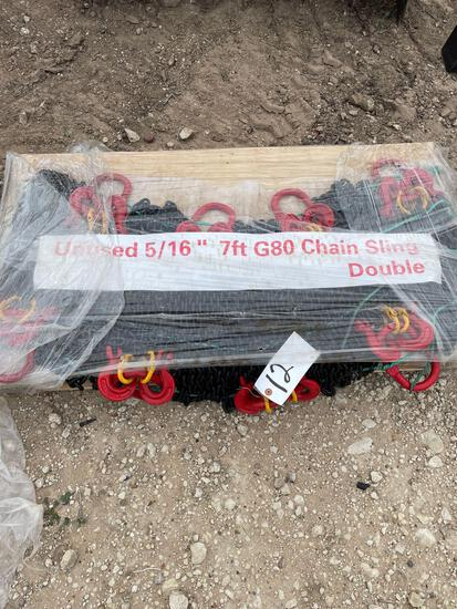 """8 - Unused 5/16"""" - 7' Grade 70 Chain Slings All sold as 1 lot"""