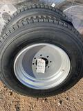 2 - 235/75/17.5 Tires on 8 Hole Solid Steel Wheels - 18 Ply TWO TIMES THE MONEY MUST TAKE ALL