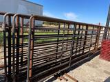One 24' Freestanding Cattle Panel with 10' Gate Sell one...per lot