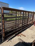 One 24' Freestanding Cattle Panel with 10' Gate Sell one per lot