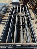 12' 6 Rail Gates with Weld on Hinges Sell one per lot
