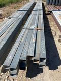 Bundle of Galvanized Square Tubing Approx. 650' Sold by the Bundle