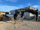 2014 Big Tex 102''x30' +5' Dovetail Dual Tandem 10,000 LB Axles.... Winch VIN 50119 Title, $25 Fee