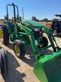 John Deere 5045E 2WD Tractor w/512 Loader Joystick Rear hyd outlet Shows 191 HRS S/N 04121