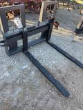 Unused Skid Steer Pallet Forks