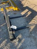 Unused Pallet Forks with Universal Weld On Attachment Plates