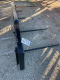 Unused Hay Spear with Universal Weld On Attachment Plates