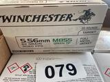 800 Rounds... of 5.56MM 62 Grain Green Tips FMJ 40 Boxes of 20 Rounds per Box Sold by the lot