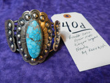 BRACELET NATIVE AMERICAN MADE (NAVAJO), KINGMAN TURQUOISE BY KEVIN BILLAH