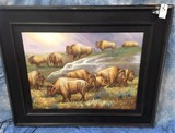 XL BUFFALO CANVAS TRANSFER PICTURE (GICLEE PRINT)