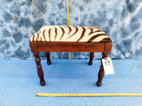 VINTAGE ZEBRA HIDE BENCH