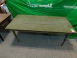 ONE 6 FOOT PINE TABLE (GREEN)