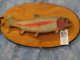 SPECKLED TROUT ON WOOD PLAQUE