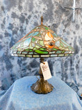 HANDMADE TIFFANY-STYLE LAMP W/KOI FISH -ORIGINALY $3000