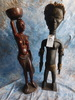 2 3FT AFRICAN STATUES (2x$)