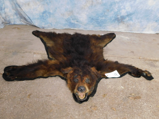 SMALL BLACK BEAR RUG